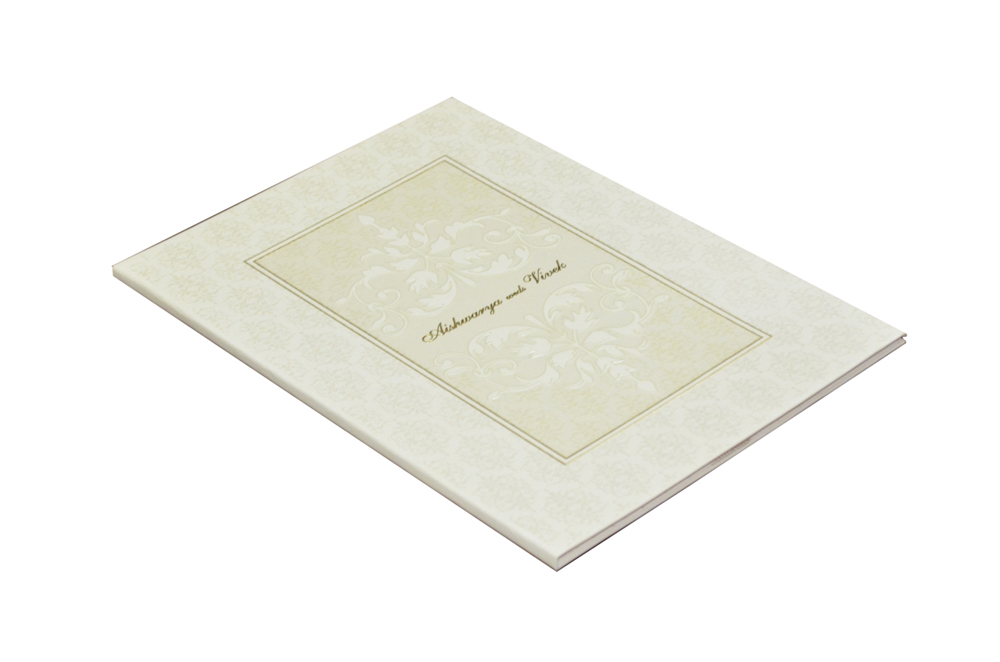 Designer Padded Wedding Card GC 1051
