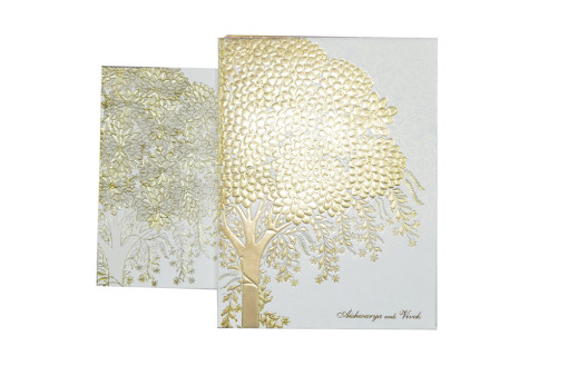 Tree Theme Wedding Card Design GC 1054