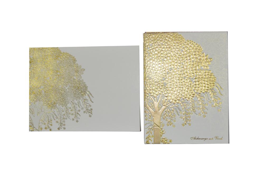 Tree Theme Wedding Card Design GC 1054
