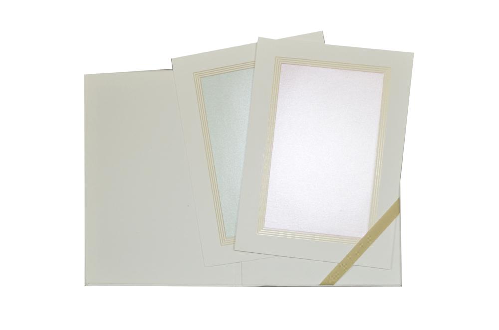 White Padded Wedding Card GC 1058