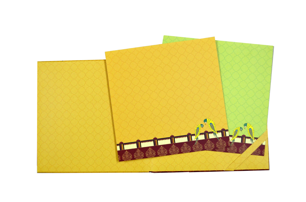 Parrot Theme Wedding Card Design GC 1104