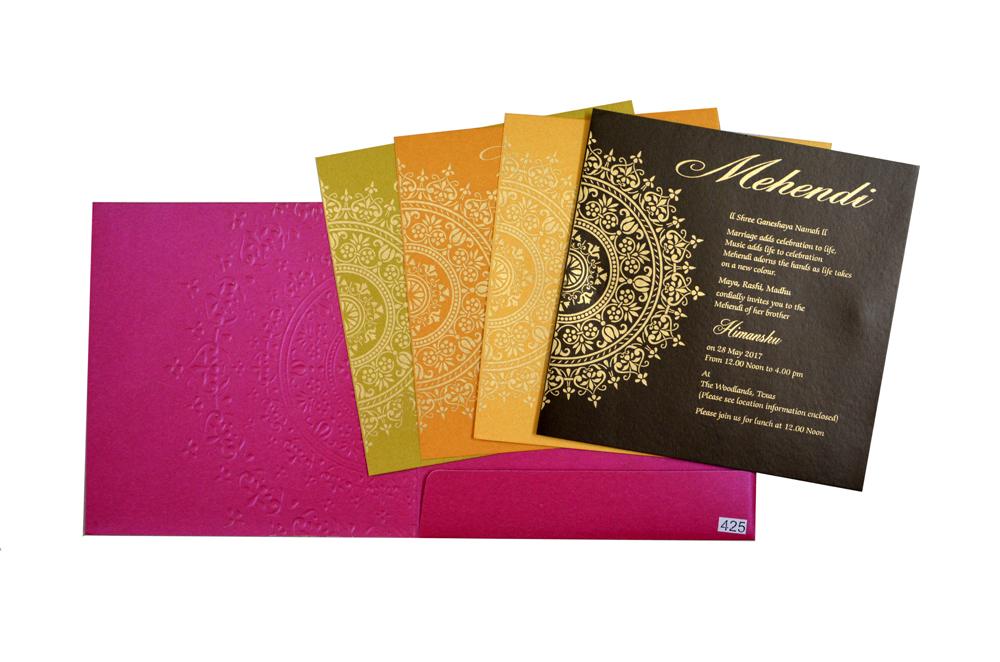 Budget Hindu Wedding Card Design GC 1204