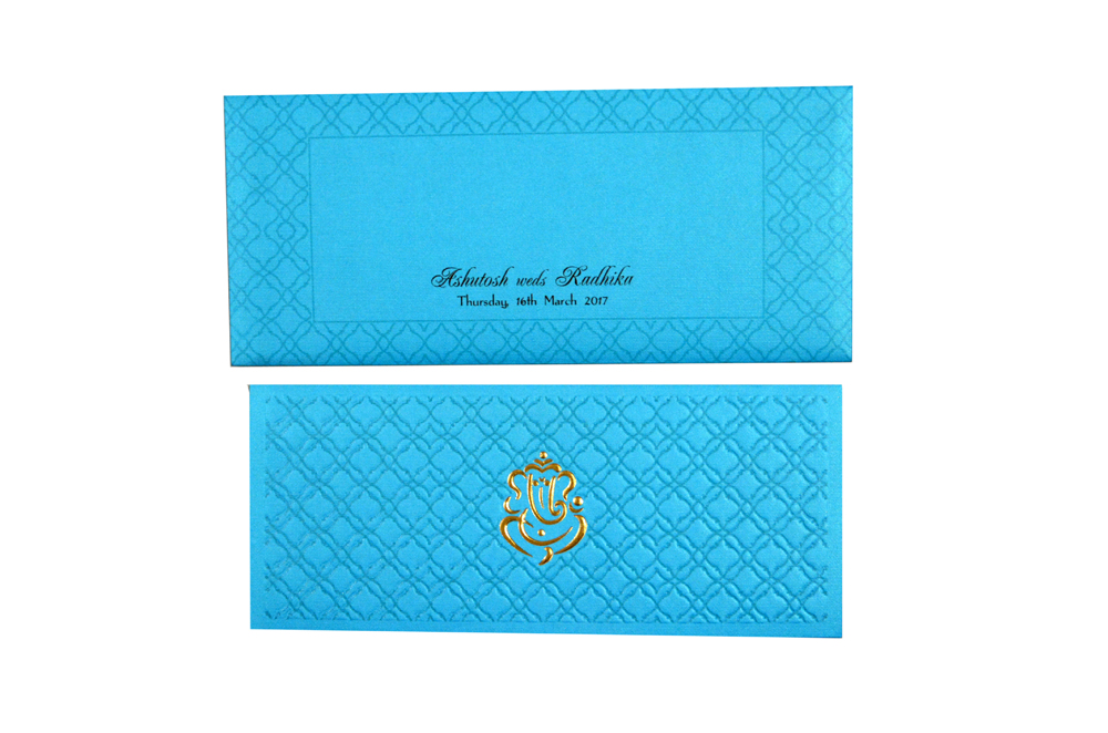 Turqoise Budget Wedding Card GC 1206