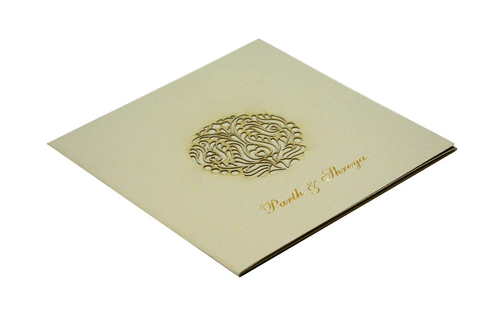 Laser Cut Wedding Card Design GC 1211