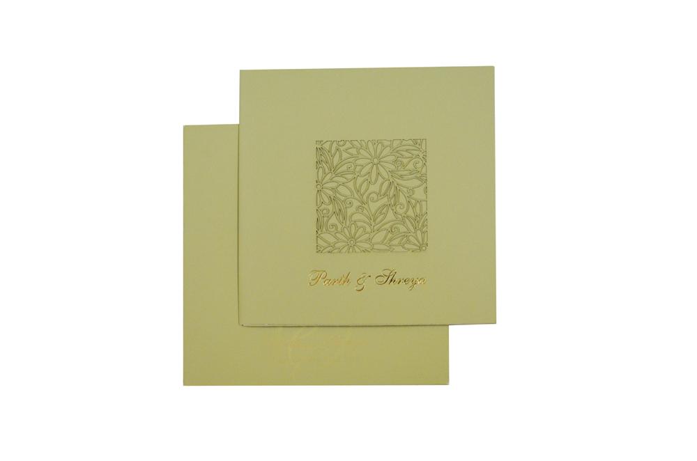 Laser Cut Wedding Card Design GC 1212
