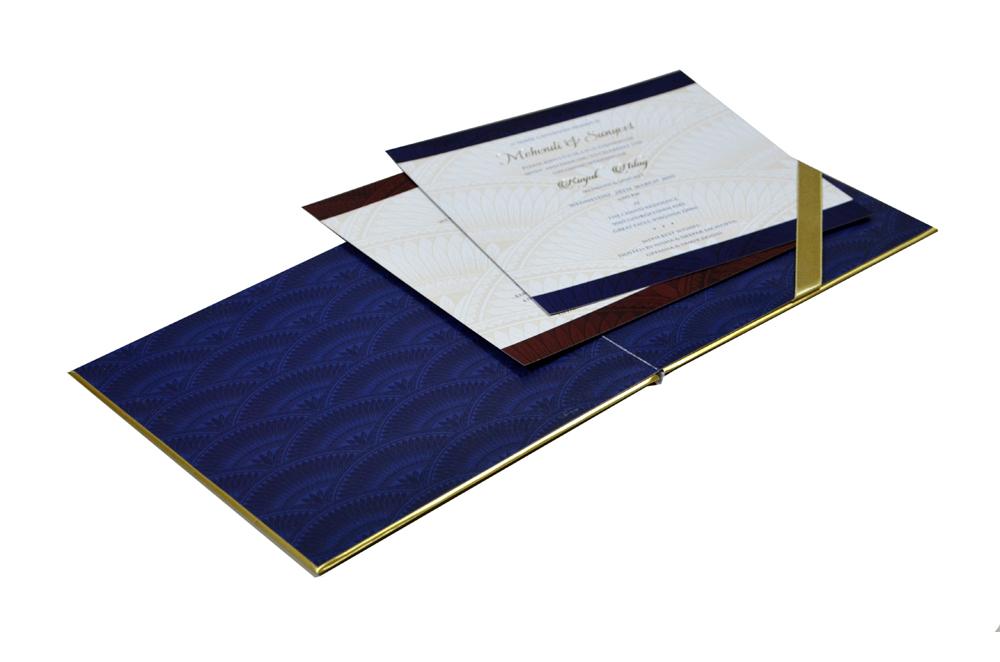 Blue Elephant Theme Designer Wedding Card MCC 8818