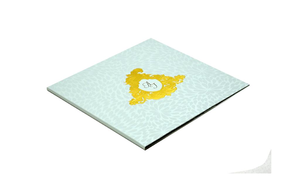Light Blue Designer Wedding Card MCC 8819