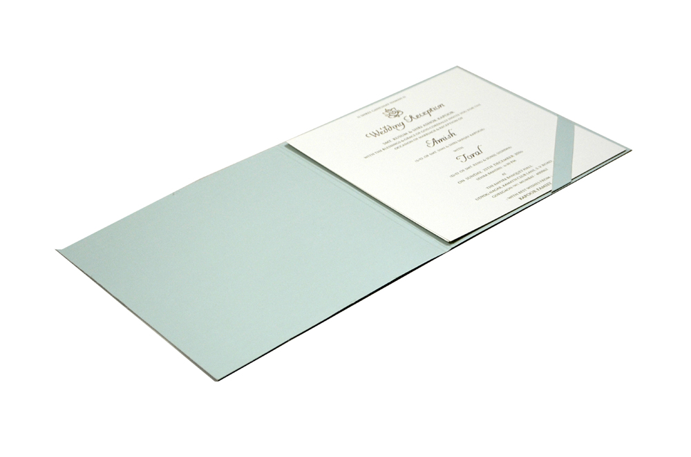 Light Blue Designer Wedding Card MCC 8819