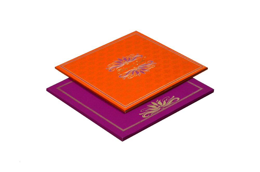 Pink and Orange Wedding Card MCC 8838