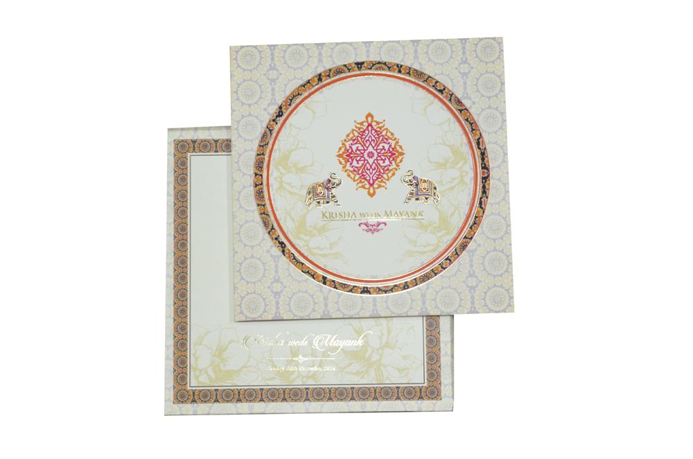 Elephant Theme Royal Wedding Card MCC 8843