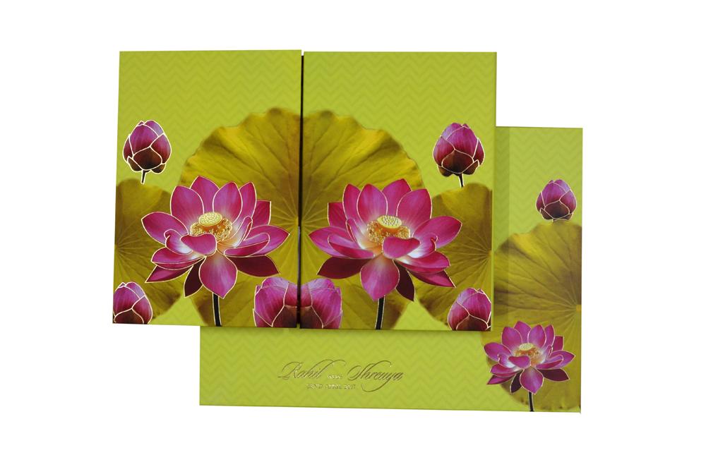 Floral Theme Royal Wedding Card MCC 8851