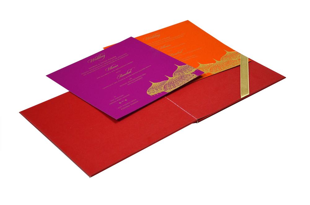 Red Umbrella Theme Wedding Card MCC 8854