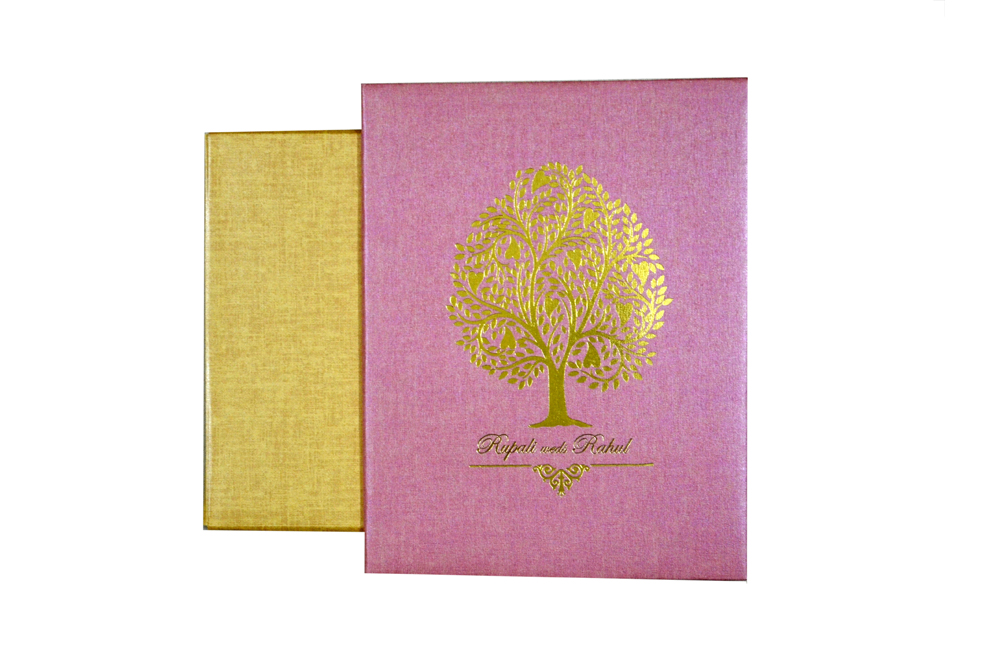 Peach Tree Theme Wedding Card MCC 8857
