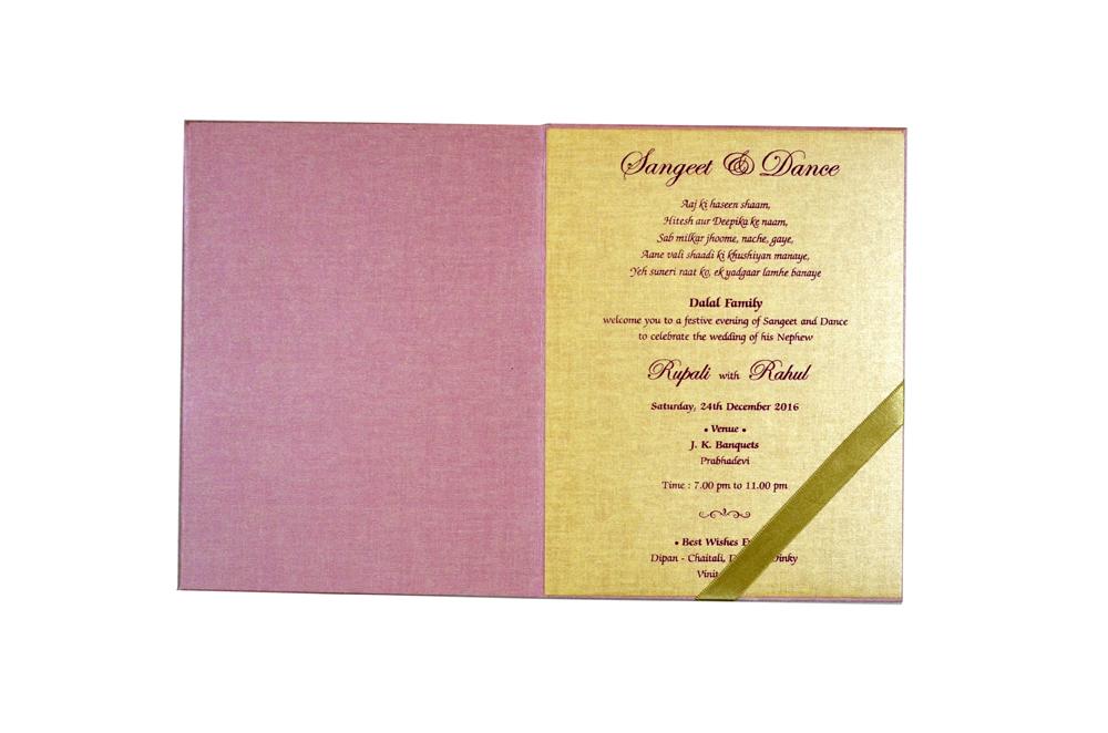 Peach Tree Theme Wedding Card MCC 8857