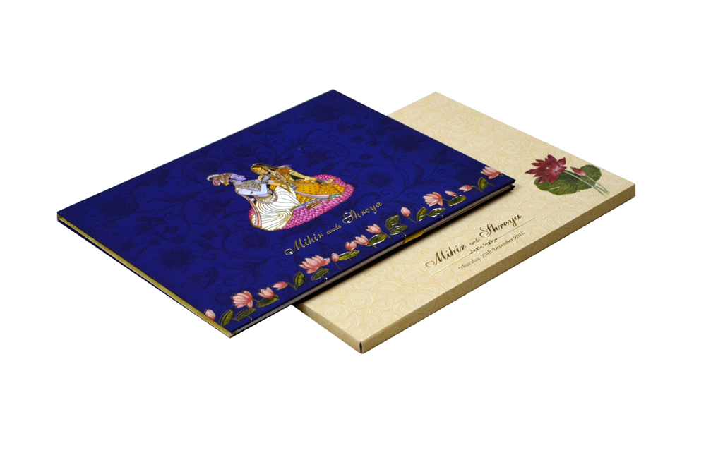 Dulha Dulhan Theme Exclusive Wedding Card MCC 8871