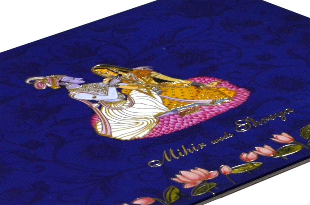 Dulha Dulhan Theme Exclusive Wedding Card MCC 8871