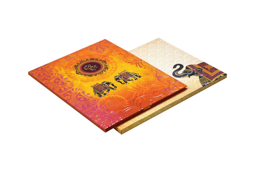 Elephant Theme Royal Wedding Card MCC 8873