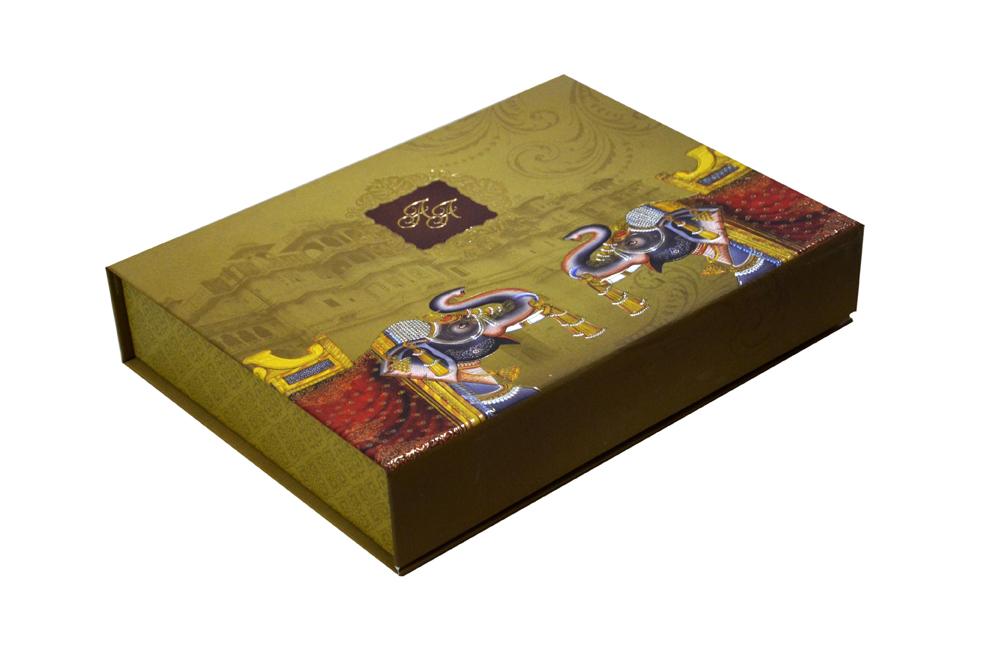 Elephant Theme Royal Boxed Card MCC 8874 BOX