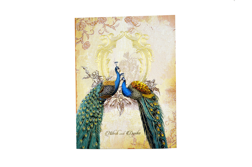 Peacock Theme Royal Boxed Card MCC 8876 BOX