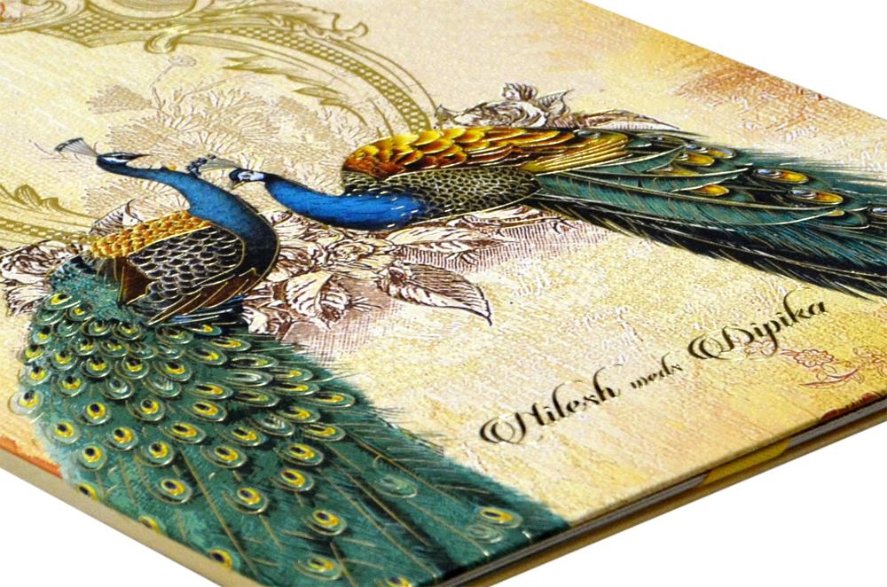 Peacock Theme Royal Wedding Card MCC 8876