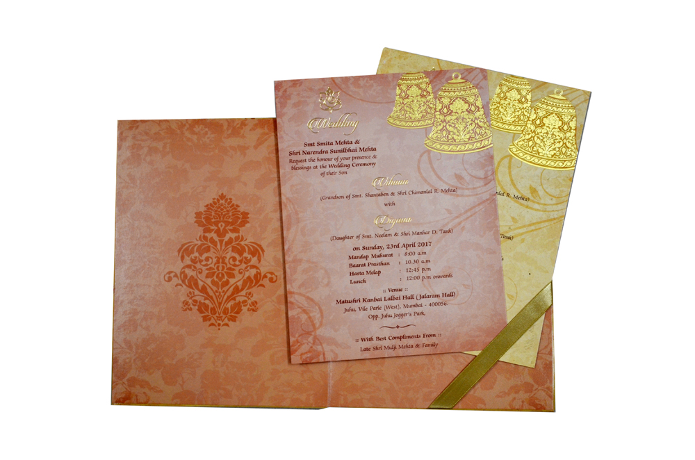 Bell Theme Wedding Card MCC 8888