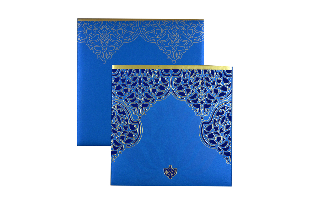 Blue Budget Wedding Card PN 8596