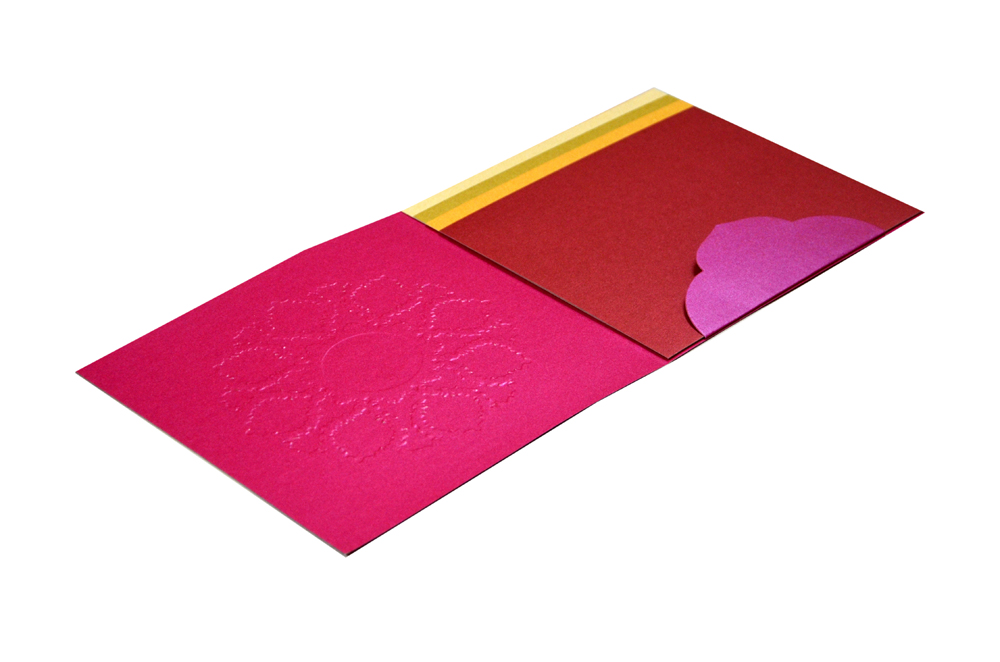 Pink Hindu Wedding Card PN 8625
