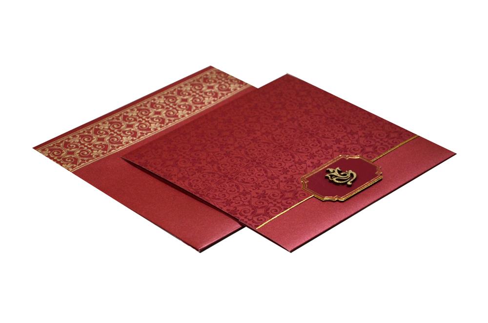 Red Hindu Wedding Card PN 8630