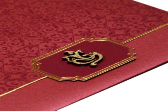 Red Hindu Wedding Card PN 8630