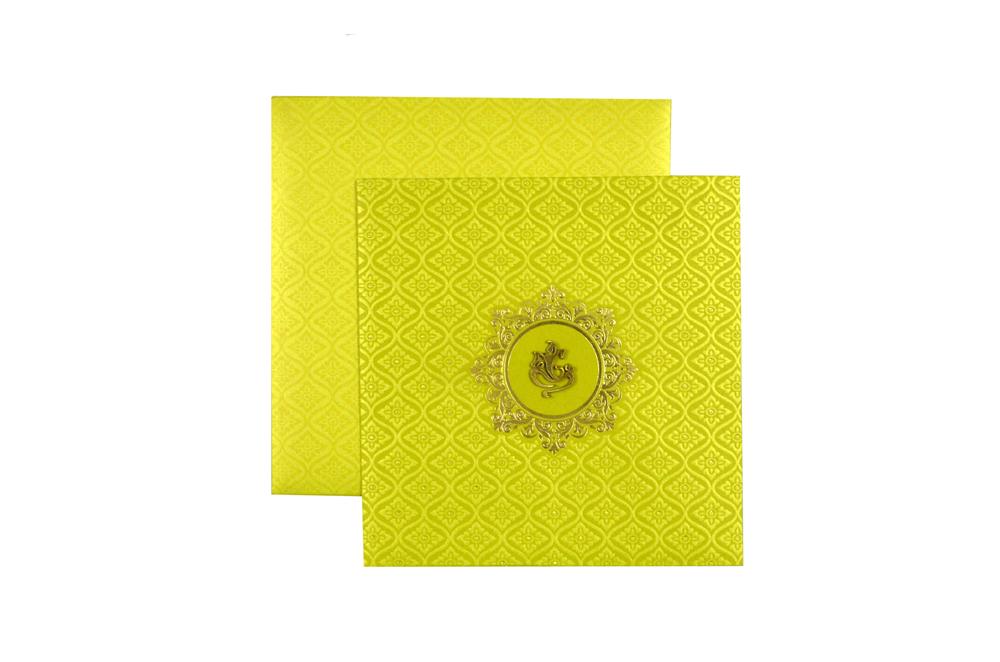 Green Hindu Budget Wedding Card PN 8684