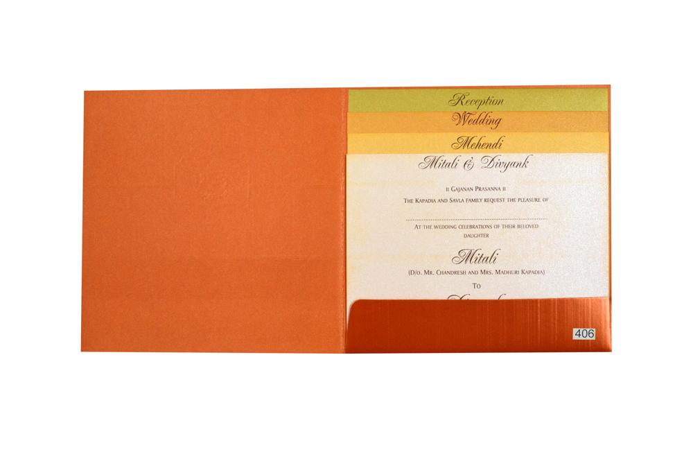 Purple Hindu Budget Wedding Card Design PR 406