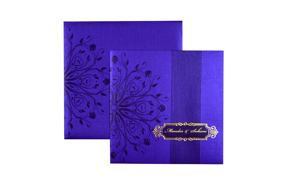 Purple Budget Wedding Card PR 428