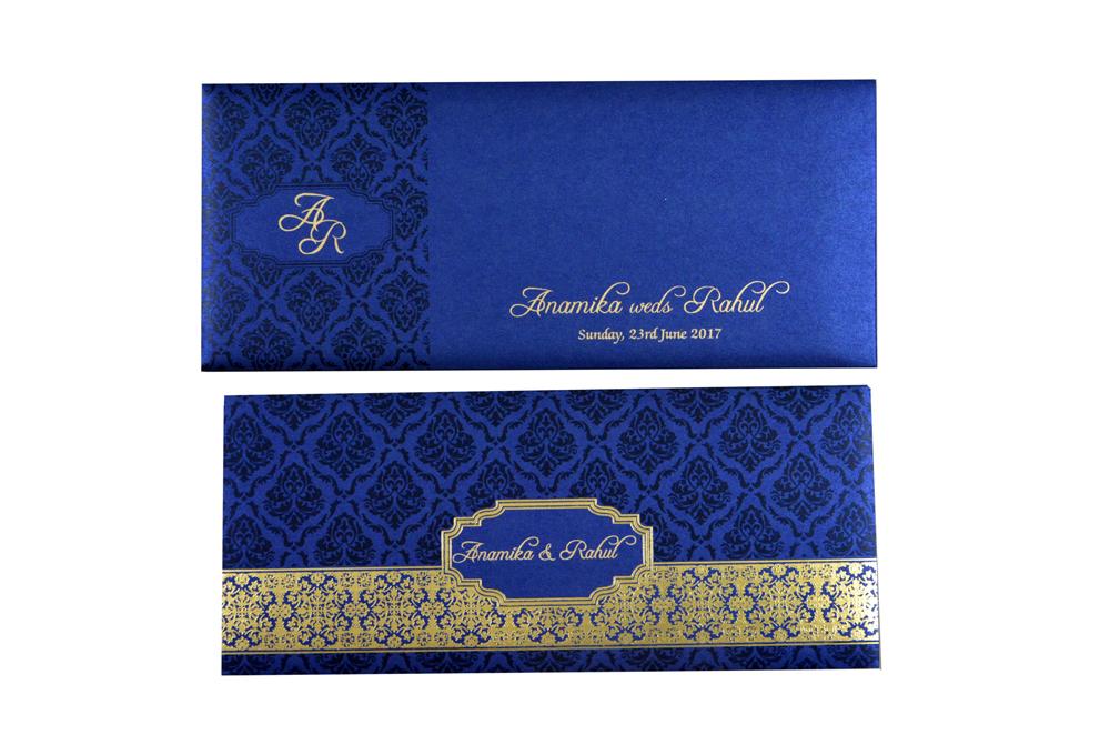 Blue Budget Wedding Card PR 465