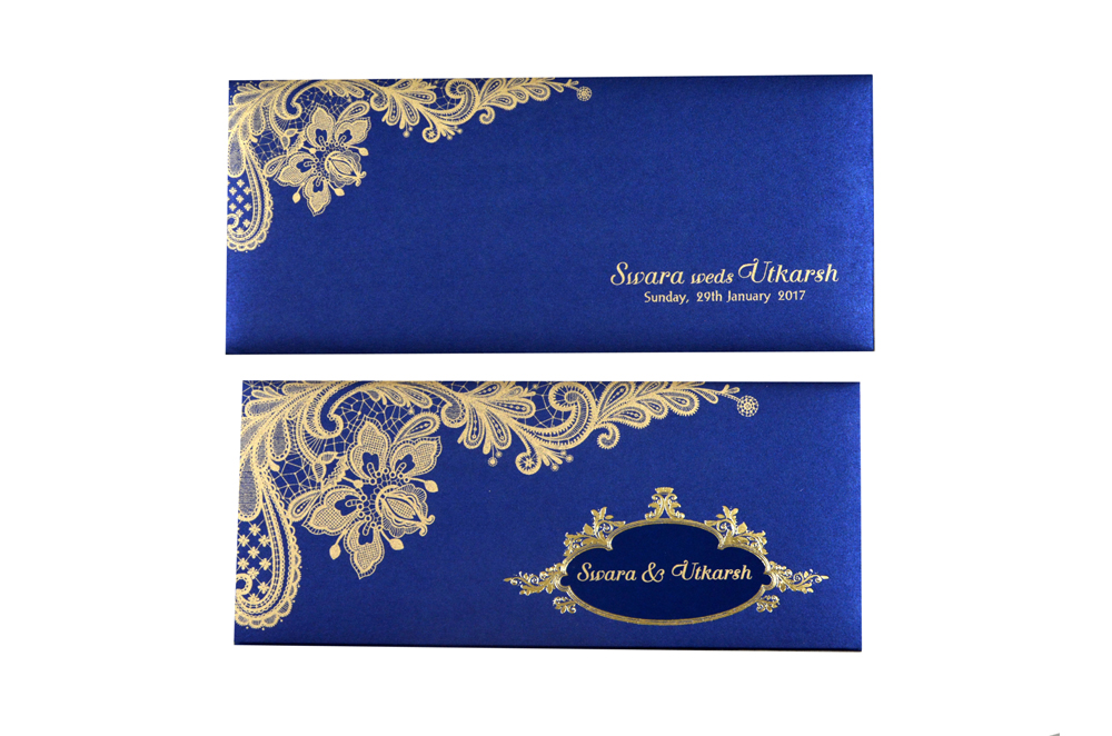 Blue Budget Wedding Card PR 467
