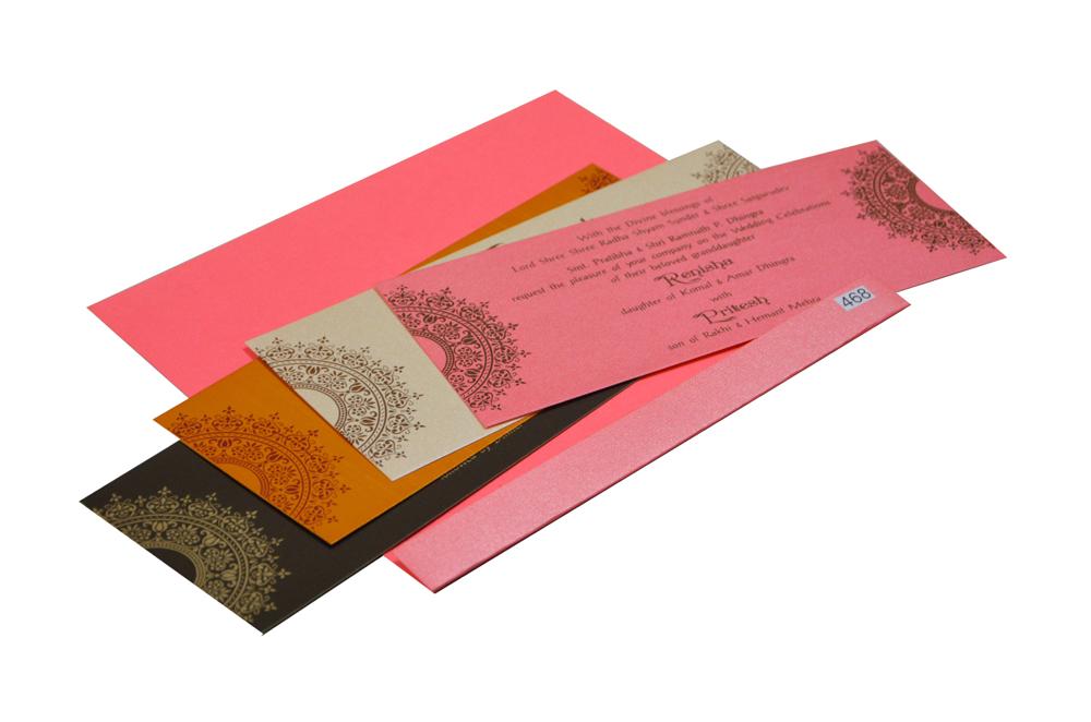 Light Pink Budget Wedding Card PR 468