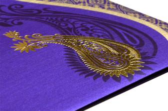 Purple Wedding Card PR 478