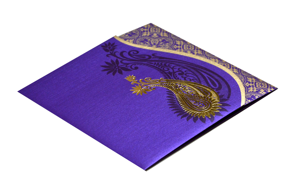Purple Wedding Card PR 478