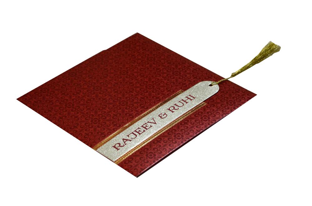 Red Wedding Card Design PR 479