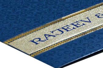 Blue Wedding Card Design PR 480