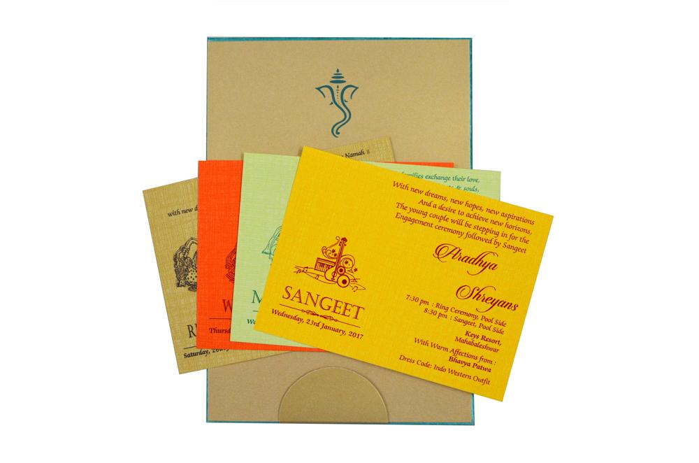 Firozi Peacock Theme Wedding Card Design RB 1234 FIROZI