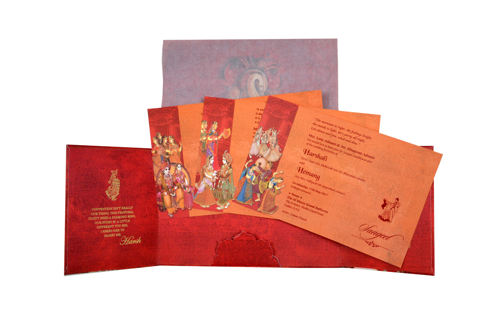 Bride Groom Theme Wedding Card RB 1272