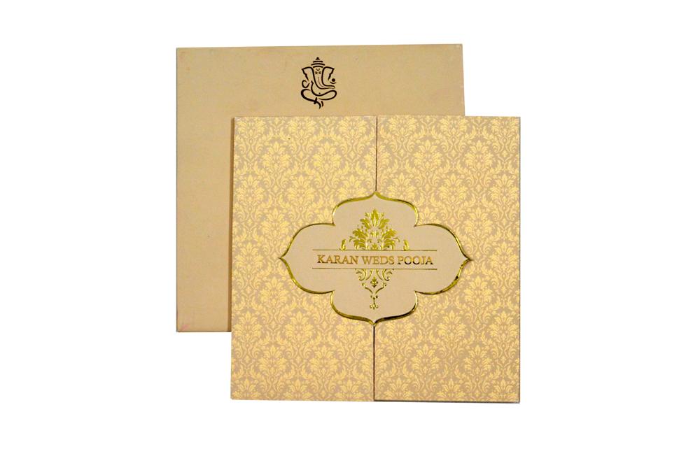 Two Fold Wedding Card Design RB 1408 PISTA