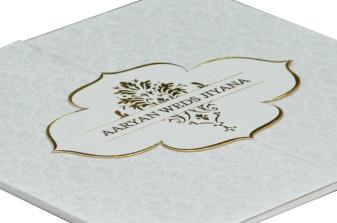 Two Fold Wedding Card Design RB 1408 WHITE