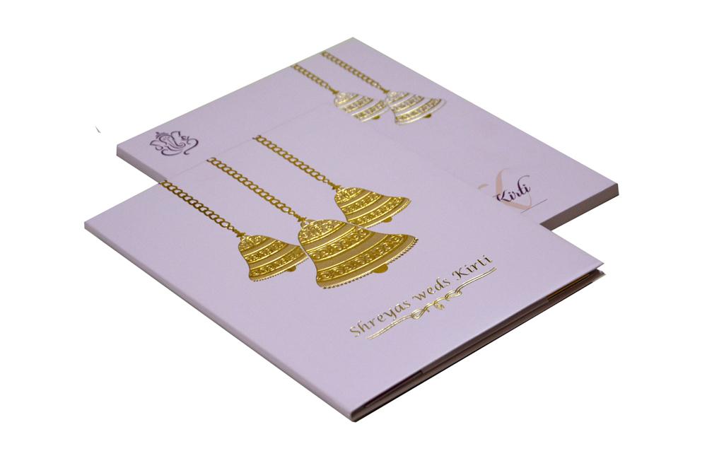 Bell Theme Wedding Card RB 1412 LAVENDER
