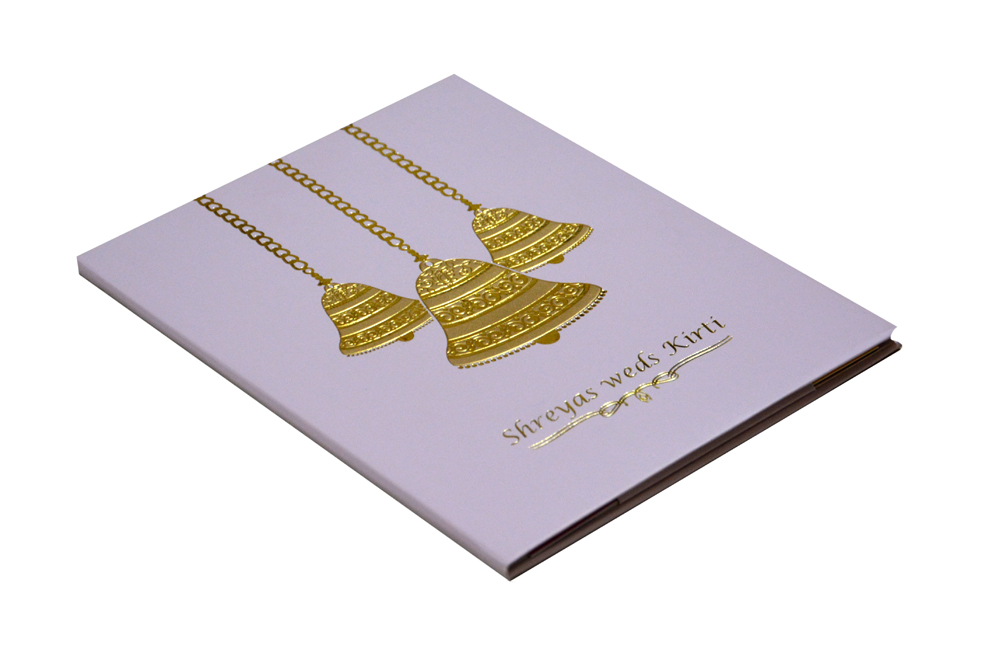 Bell Theme Wedding Card RB 1412 LAVENDER