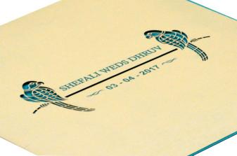 Parrot Theme Wedding Card RB 1416 PISTA