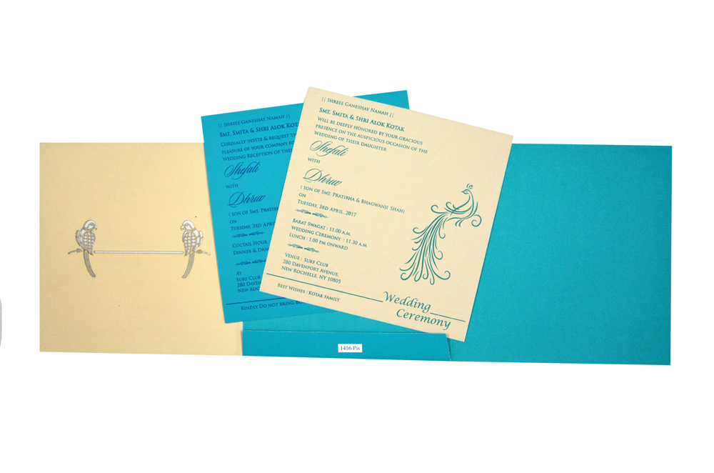 Parrot Theme Wedding Card RB 1416 PISTA