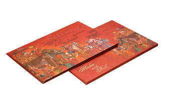 Baarat Theme Red Wedding Card RB 1417
