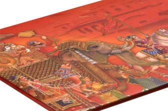 Baarat Theme Red Wedding Card RB 1417