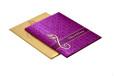 Hindu Satin Cloth Wedding Card RB 1426 PINK